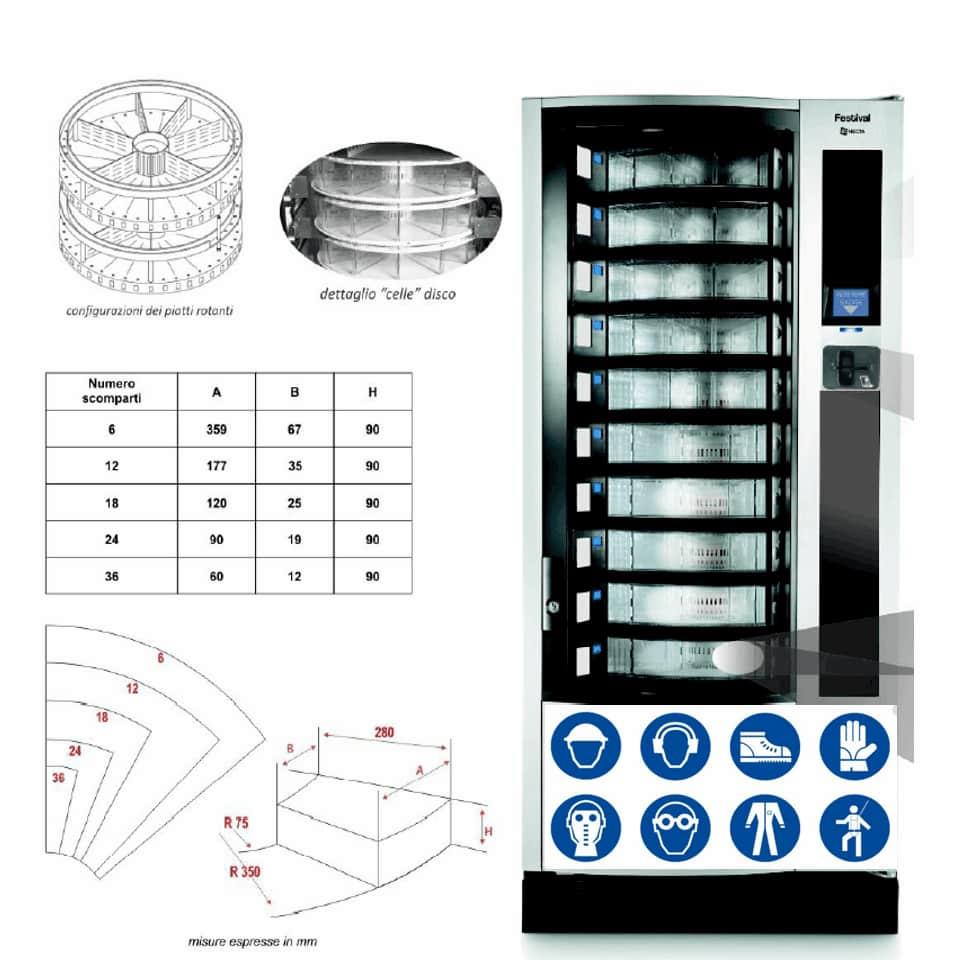 Fot Safe Necta distributore automatico dispositivi di protezione